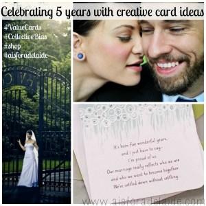 Celebrating 5 Years with Creative Crd Ideas #Valuecards #aisforadelaide #shop #weddinganniversary #collectivebias #cbias