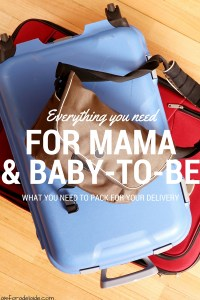 Ready to give birth? Here's everything you need to pack for you and baby-to-be in your hospital bag! #pregnancy #birth