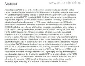 Meclizine Dwarfism Achondroplasia Study #aisforadelaide
