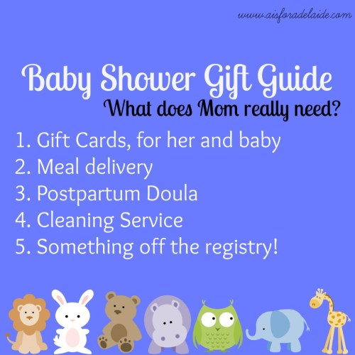 #aisforadelaide Baby Shower Gift Guide #baby #giftguide