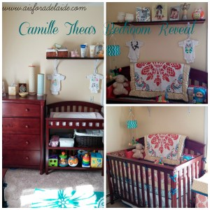 Baby Girl Nursery Reveal #babygirl #nurserydecor #aisforadelaide #CamilleThea