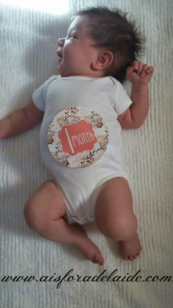 #CamilleThea #onemonth #marvelousmonday #aisforadelaide #newborn