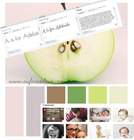 neapolitan designs #aisforadelaide #blogdesign #webdesign #graphicdesign