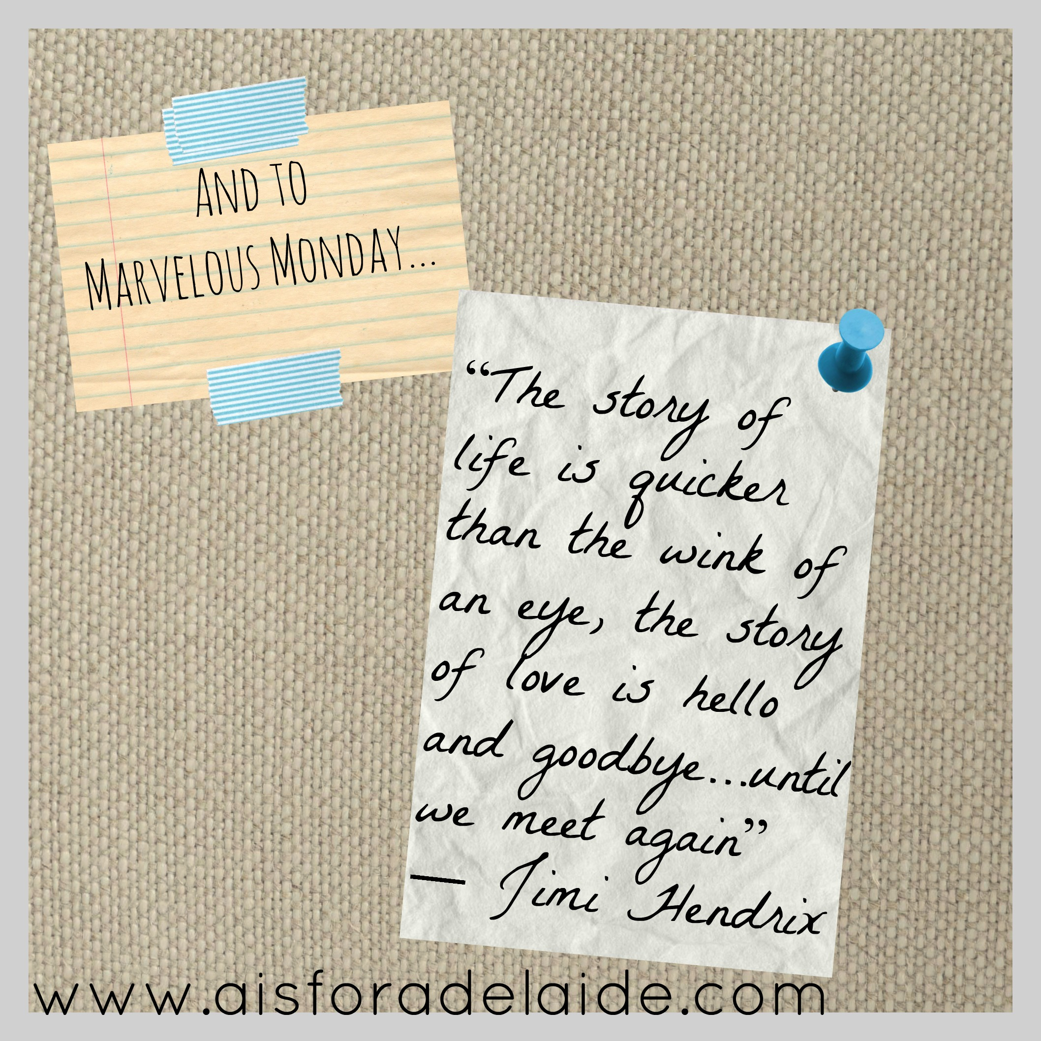 The last Marvelous Monday post for a while... but never fear! More content coming to YOU! #aisforadelaide