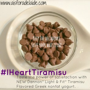Taste the power of satisfaction with NEW Dannon® Light & Fit® Tiramisu Flavored Greek nonfat yogurt. #IHeartTiramisu #IC #ad