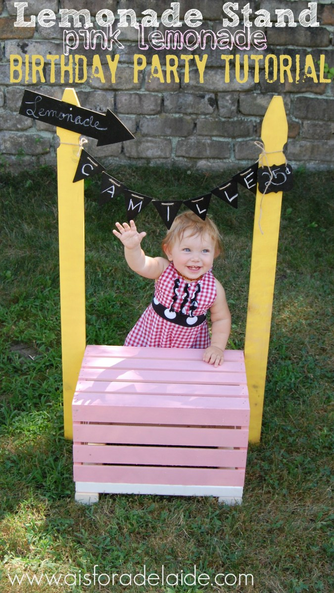 First Birthday: Pink Lemonade Stand #DIY Tutorial