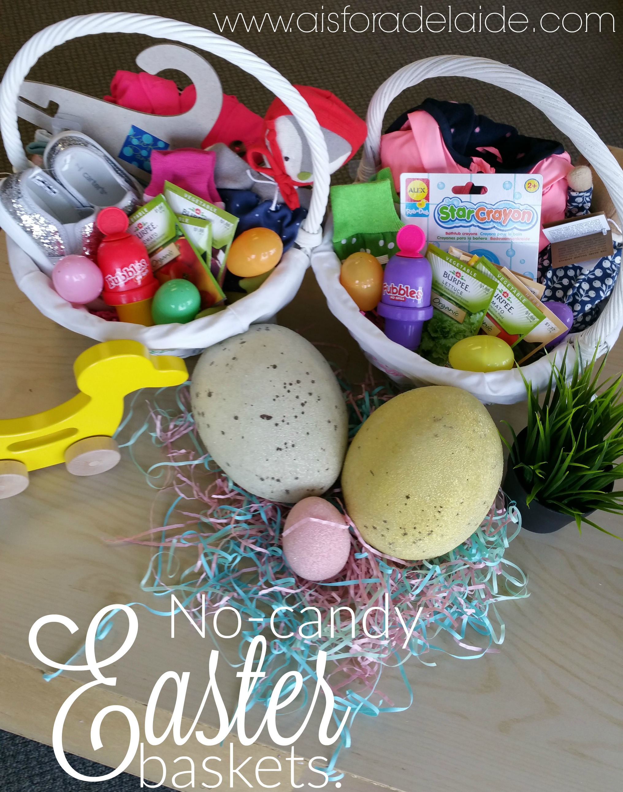 The perfect no-candy ideas for Easter baskets.