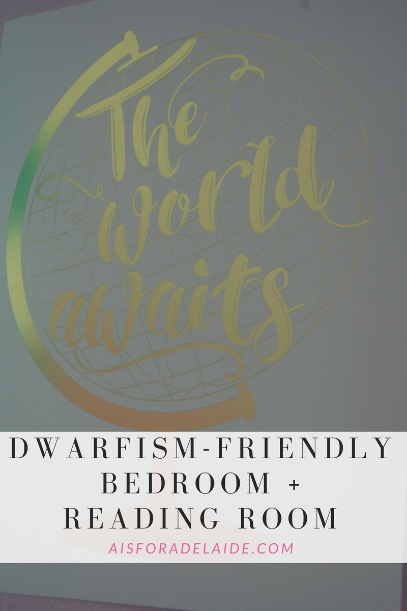 Dwarfism-friendly bedroom + Reading room
