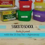 5 Back-to-School Lunches for Parents w/ #21DayFix + #giveaway
