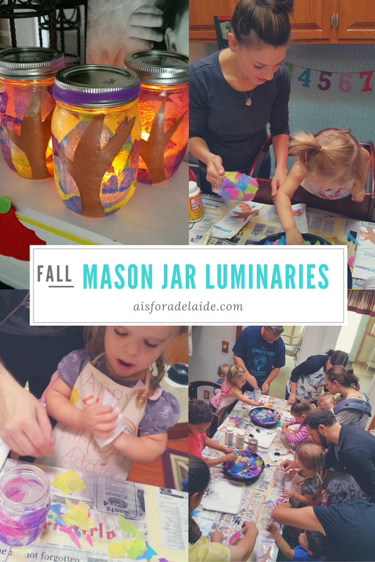 Fall Craft: Mason Jar Luminaries #WaterWipesMom #IC [ad]