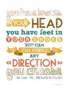 Dr. Seuss Brains + Feet = Direction