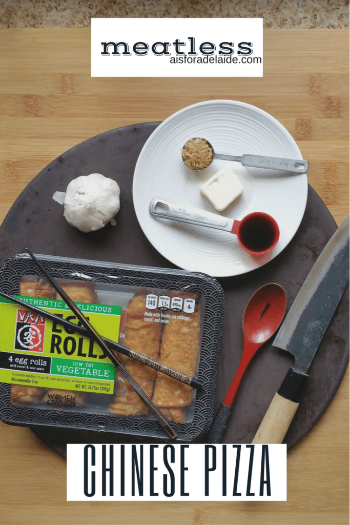 Meatless Chinese Pizza #recipe #EggRollWithIt #ColletiveBias #Cbias [ad]