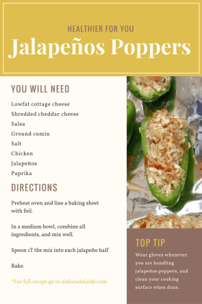 Healthier for you jalapeno poppers recipe