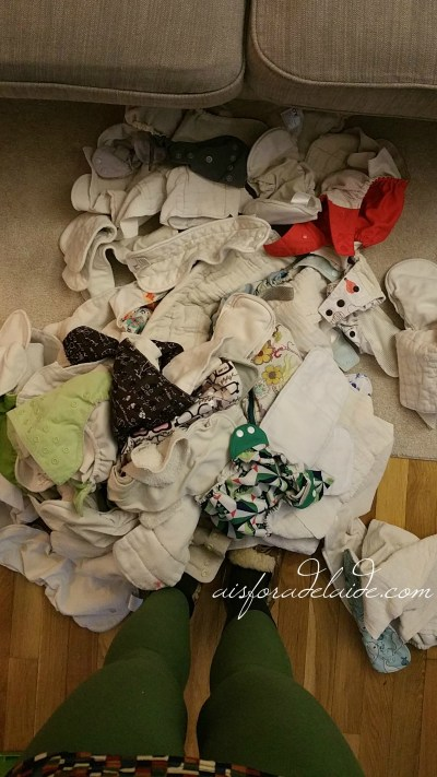 How to store cloth diapers for sale- or the next baby! + #giveaway