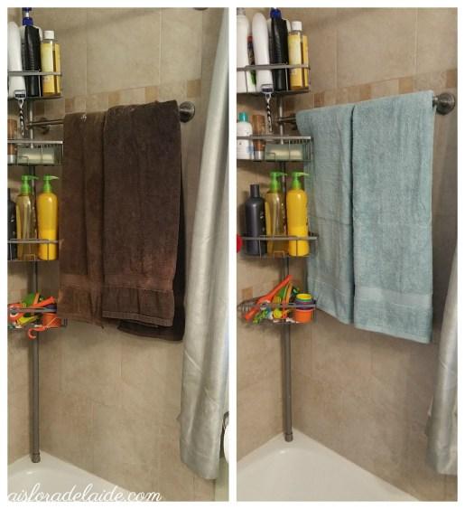 Small bathroom #MegaSummerRefresh: ready for guests! #cbias #ad
