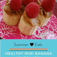 "Summertime Healthy Snacks: Banana ""Cupcakes"""