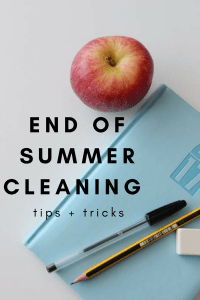 End of Summer Cleaning Tips and Tricks