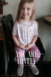Dear Camille on your third birthday: You are grace.