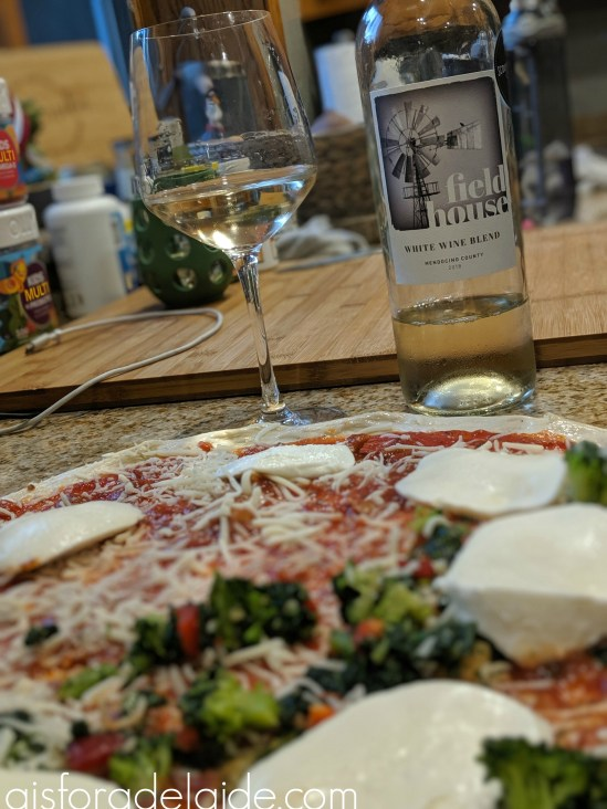 Pizza Night with Field House White Wine Blend