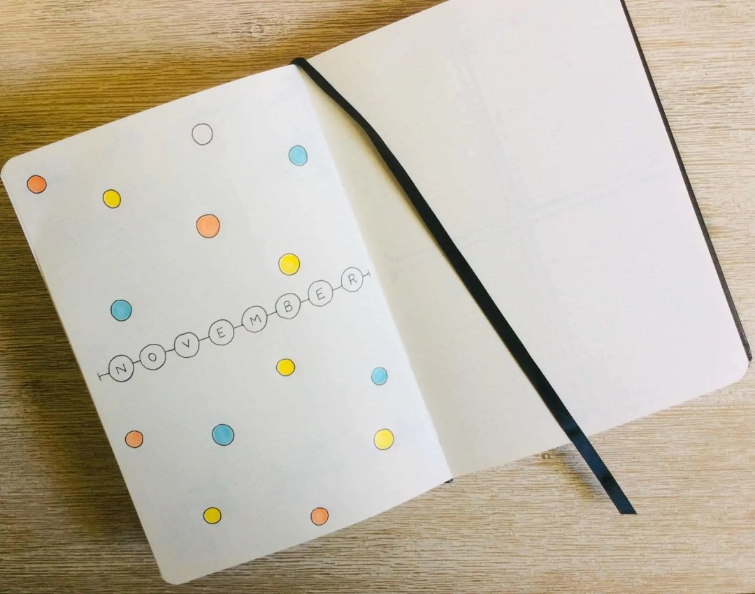 How to Start A Bullet Journal - Monthly Cover Page