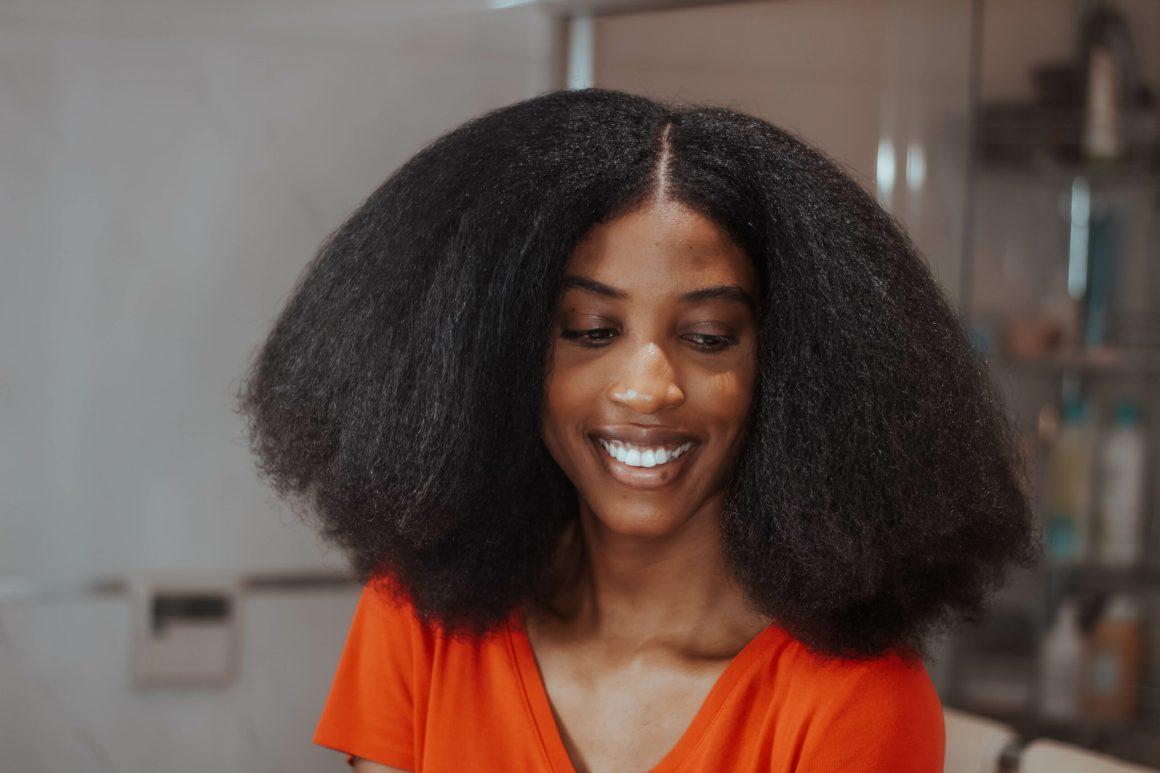 blow dry natural hair, blown out natural hair, aisha beau