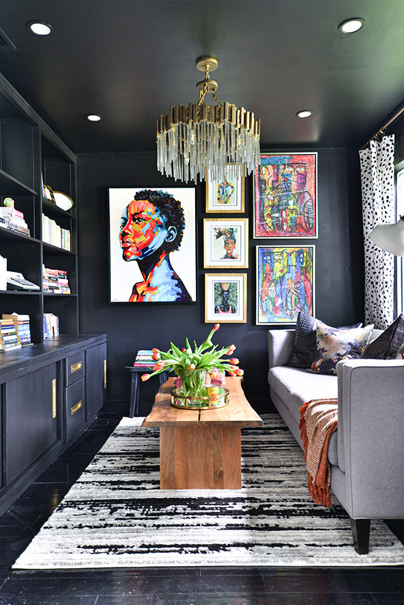 Nicole White, black interior designers