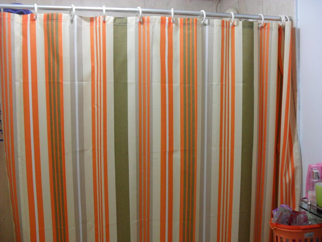 Clipart Orange Shower Curtain Another Interior Blog