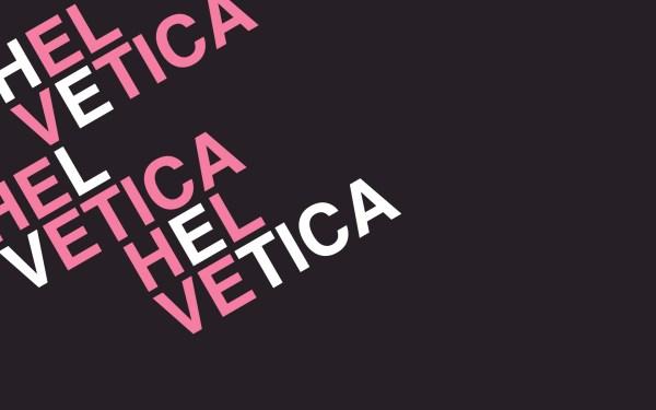 Helvetica Typography Design