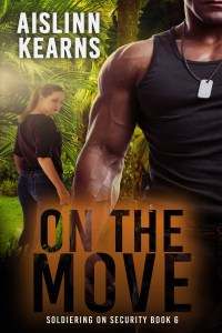On the Move cover: Buff military man in foreground, woman behind him, jungle in background
