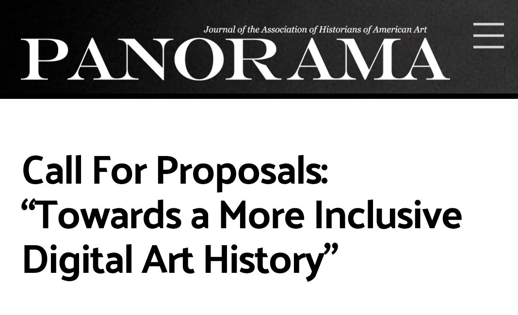 15/04/2020 – CFP: Toward a More Inclusive Digital Art History