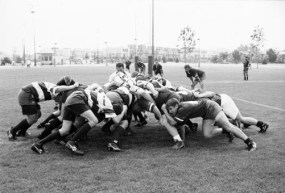 This is a scrum. It is as intense as it looks. It might have also been a cause of Dan Griffith's 1936 death.