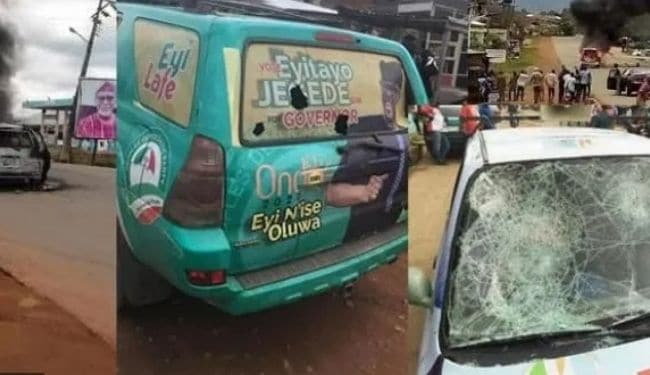 Several injured, cars burnt as APC, PDP supporters clash in Oba-Akoko | AIT  LIVE