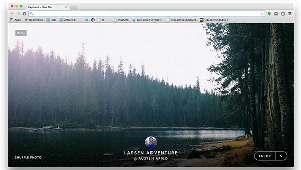 إضافة للحصول على صور عالية الدقة عند فتح تبويب جديد في جوجل كروم