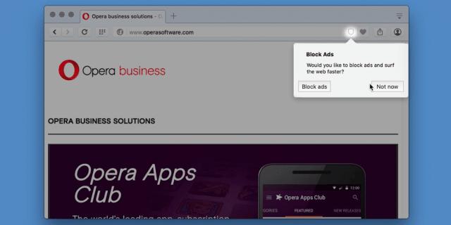 أوبرا تطلق إصدارا جديدا من متصفحها مع مانع إعلانات مدمج