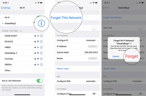 كيفية حل مشكلة عدم الاتصال بالواي فاي في نظام التشغيل iOS 12