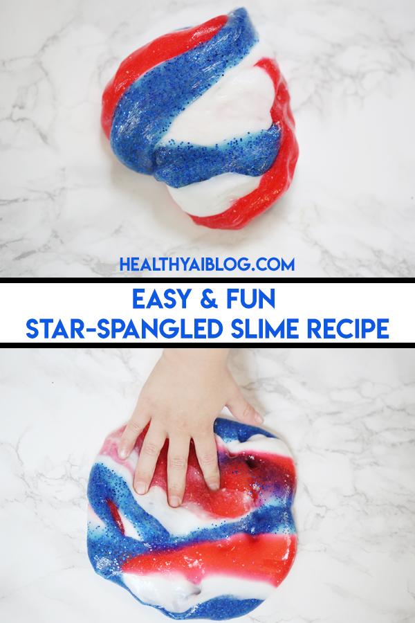 Easy and Fun Star-Spangled Slime -healthyaiblog.com