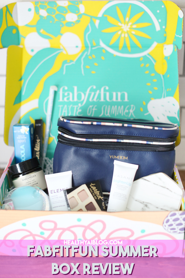 Review of the Amazing FabFitFun Summer Box - healthyaiblog.com