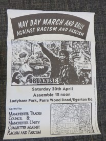 Archive poster for an anti-racism rally of 1986