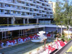 Restaurantul hotelului Amfiteatru. AIci se faceau odata emisiuni televizate.