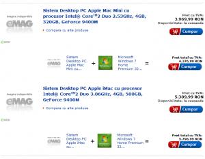 E-mag si Apple, baba si Windows 7