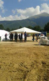 Nel campo di Sommati / Sant'Angelo è stata allestita una cappella
