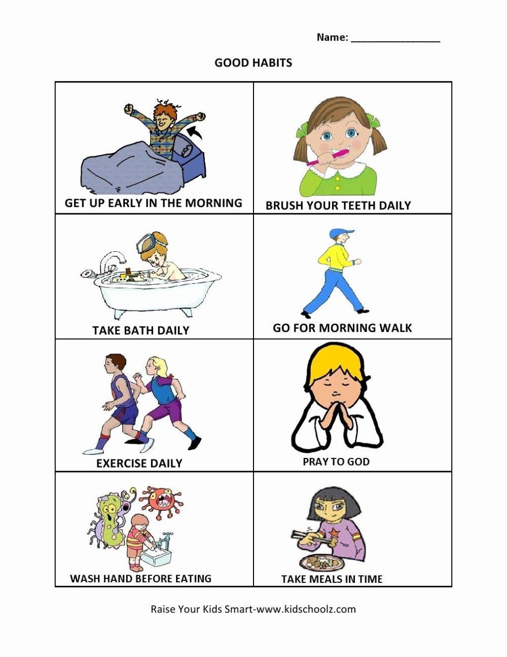 medium resolution of Good Habits Worksheets for Preschoolers Lovely Hygiene Worksheets Personal  Preschool Ks2 Ks4 Teenage Youth – Printable Worksheets for Kids