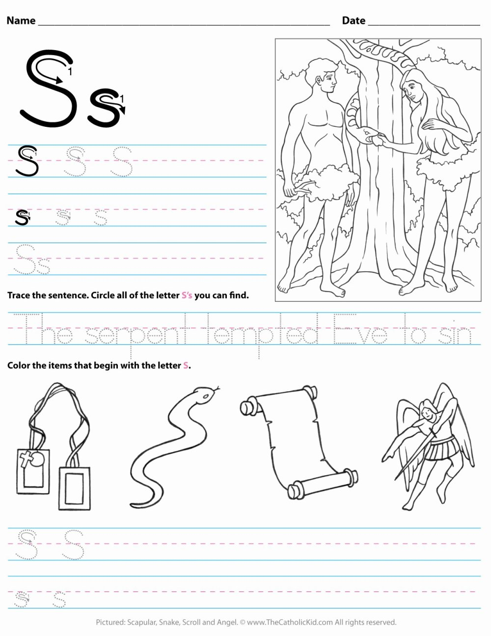 medium resolution of Letter A Worksheets for Preschoolers Fresh Catholic Alphabet Letter Worksheet  Preschool Kindergarten – Printable Worksheets for Kids
