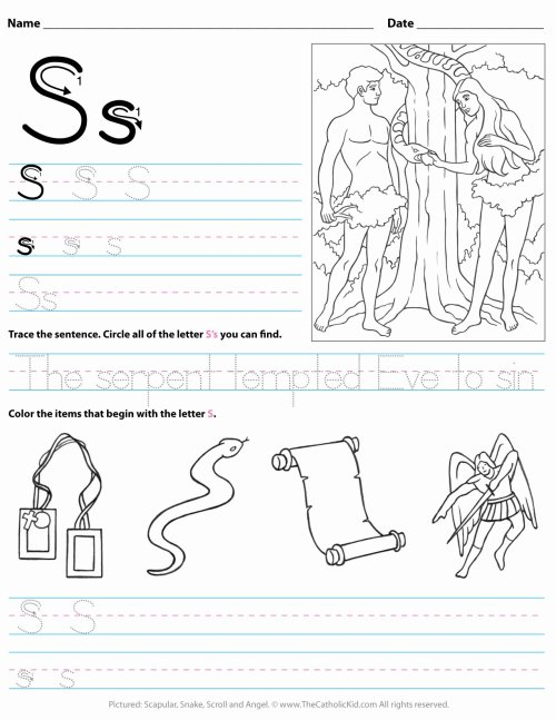 small resolution of Letter A Worksheets for Preschoolers Fresh Catholic Alphabet Letter Worksheet  Preschool Kindergarten – Printable Worksheets for Kids