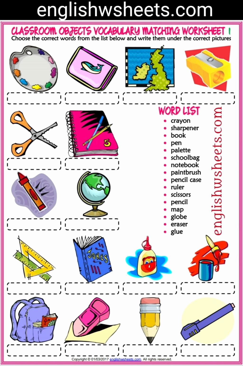 Matching Objects Worksheets For Preschoolers