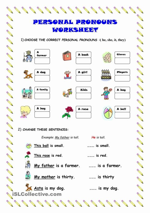 small resolution of Personal Pronouns Worksheets for Preschoolers Inspirational Possessive  Pronouns His Her Worksheets Worksheet Games to – Printable Worksheets for  Kids