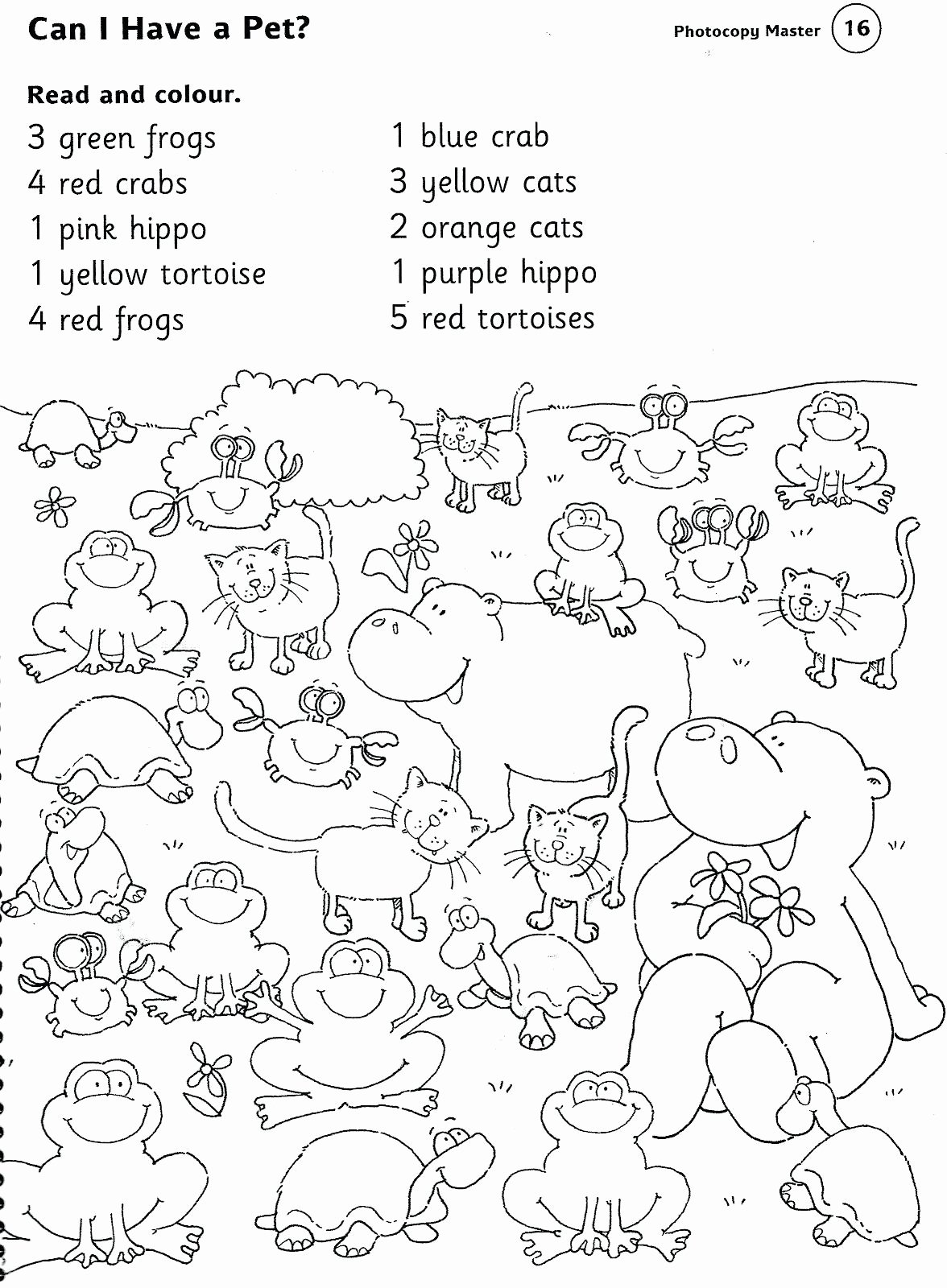 Pet Animals Worksheets For Preschoolers