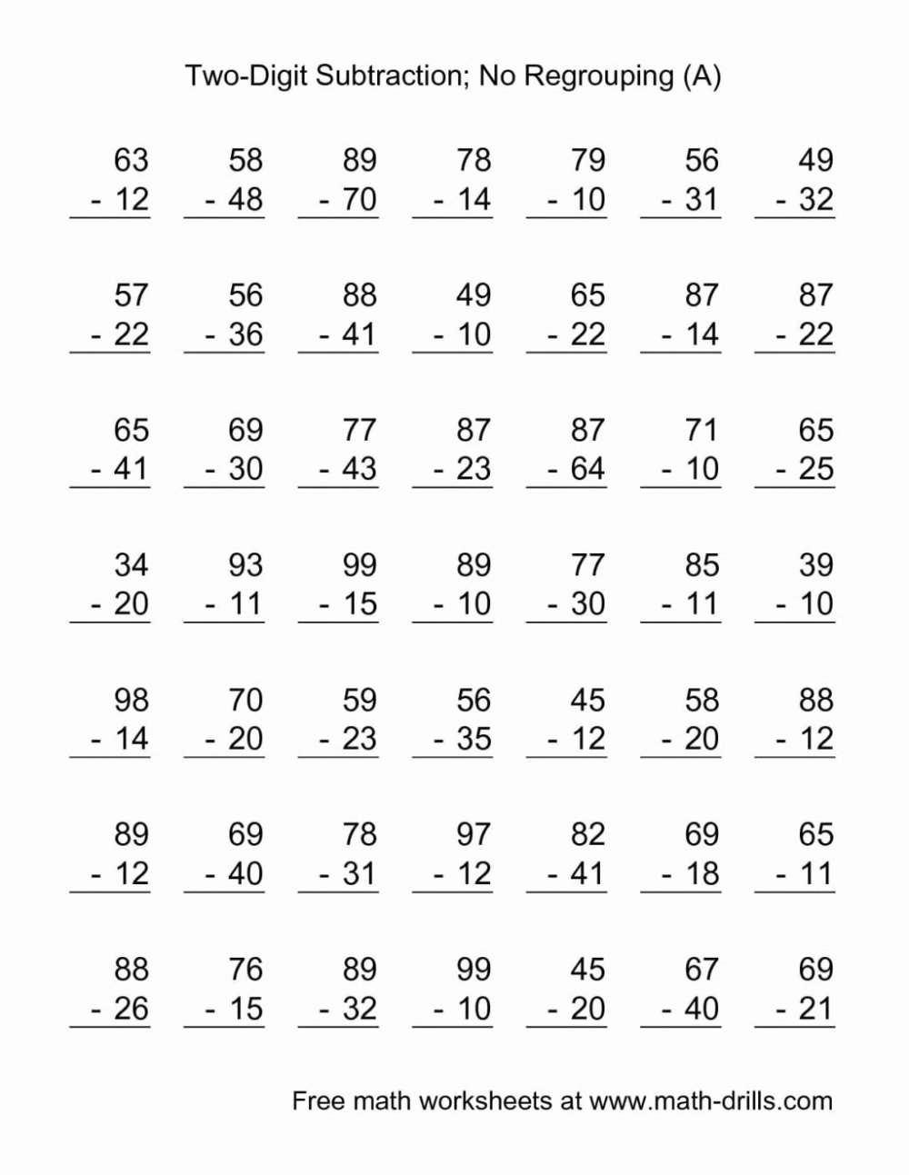medium resolution of Simple Addition and Subtraction Worksheets for Preschoolers   Printable  Worksheets for Kids