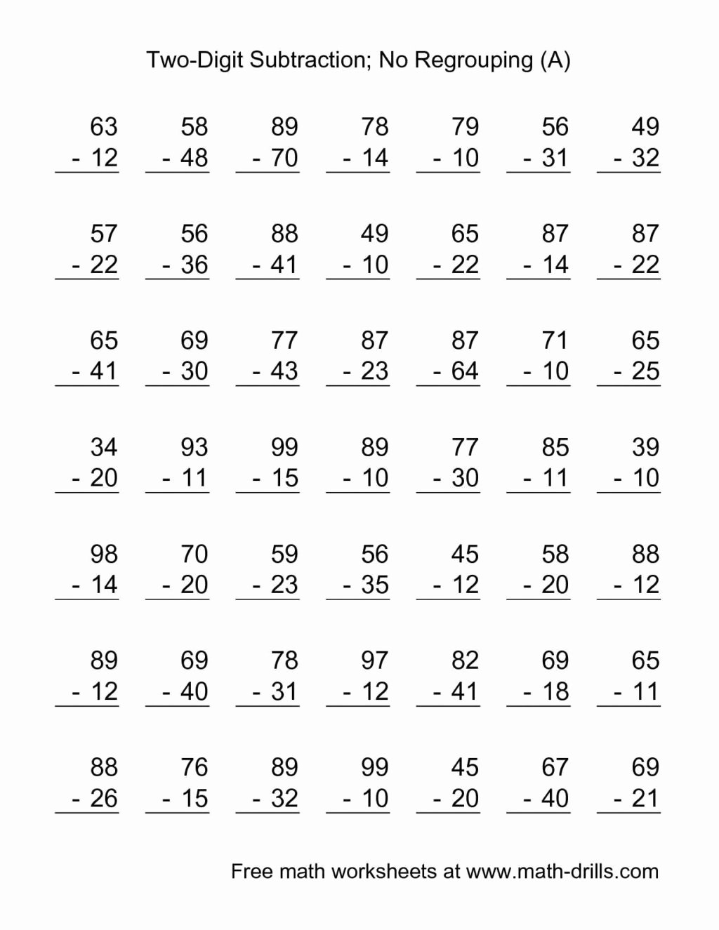 hight resolution of Simple Addition and Subtraction Worksheets for Preschoolers   Printable  Worksheets for Kids