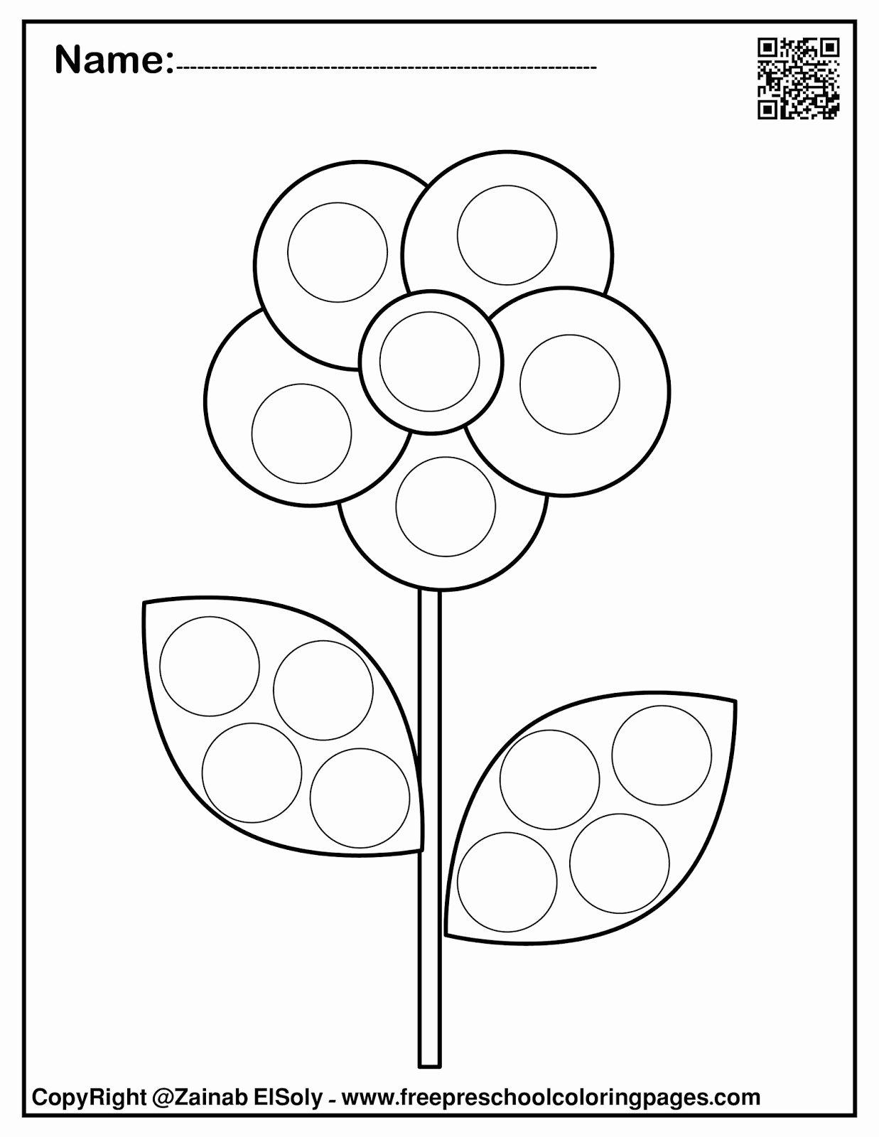 Spring Printable Worksheets For Preschoolers